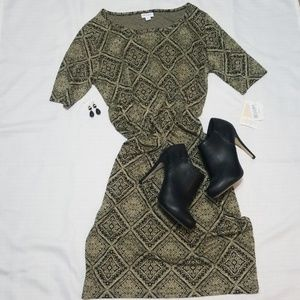 Bodycon Dress Tribal/Geometric Pattern